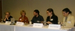 Food writing panel: (l to r) Elissa Altman, Lora Brody, Max Brody, Sally Ekus, and Melissa Weinberger.