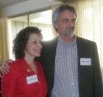 Keynote speakers Leslea Newman and Roland Merullo.
